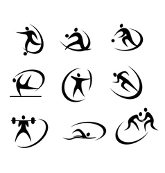 Different kinds of sports symbols vector image