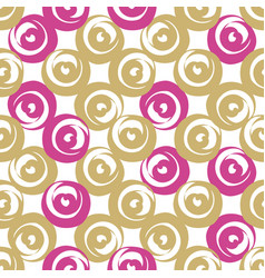 golden and pink round shaped hearts vector image vector image