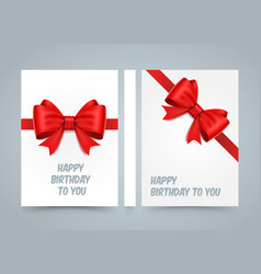 happy birthday to you bow on white paper banner vector image