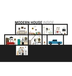 Modern house in cut vector image