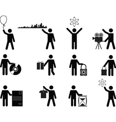 People holding stuff vector image