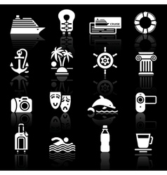 recreation icons set vector image vector image