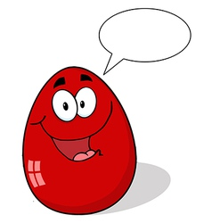 Red Easter Egg Mascot Cartoon Character vector image vector image