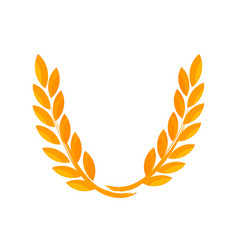 wreath from ears of wheat vector image