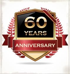 60 years anniversary golden label vector image vector image