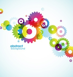 Abstract background with colored circles vector image vector image