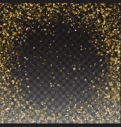glitter gold particles frame effect luxury card vector image