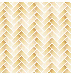 golden pattern with chevron on white background vector image