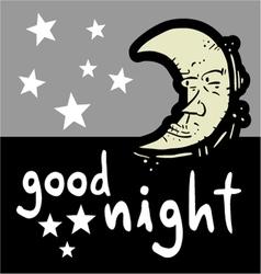 Good night symbol vector image