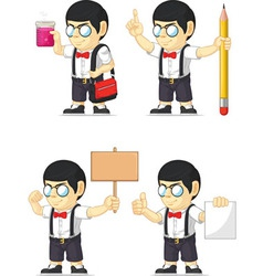 Nerd Boy Customizable Mascot 19 vector image vector image