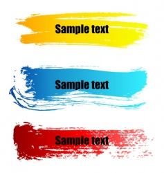 painted grunge banners vector image vector image
