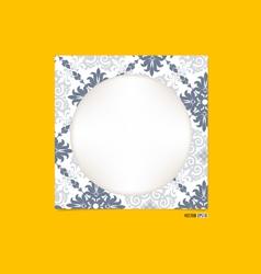 Vintage picture frame vector image vector image