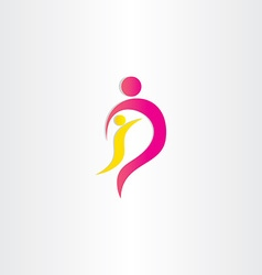 mother and child parent protection symbol vector image vector image