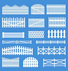 rural wooden fences vector image
