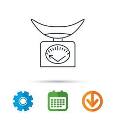 scales icon kitchen weighing tool sign vector image
