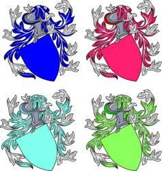 shields emblems vector image