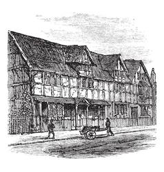 Stratford-upon-Avon engraving vector image vector image