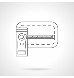 Barrier flat line icon vector image vector image