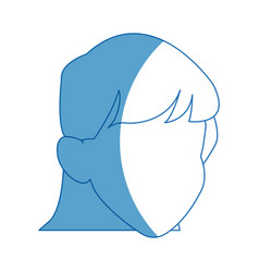 Default girl avatar profile icon vector