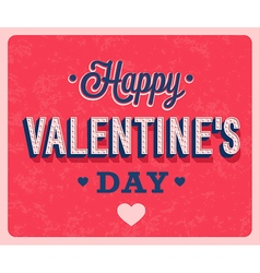 Happy valentines day vintage greeting card vector