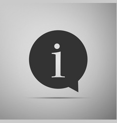information icon isolated on grey background vector image