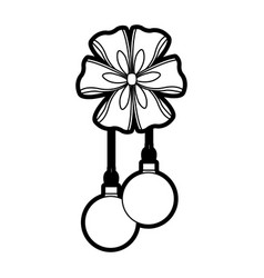 Merry christmas ball with ribbon and a bow vector
