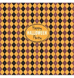 Seamless pattern Of Vintage Happy Halloween Tartan vector image