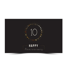 10 years happy anniversary card vector image