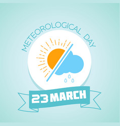 23 march meteorological day vector image