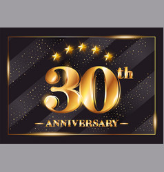 30 years anniversary celebration logo 30th vector image