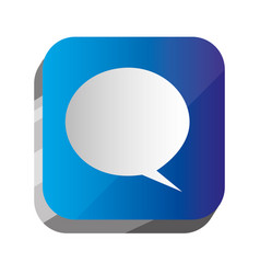 3d button chat bubble communication vector