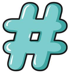 A hash symbol vector image