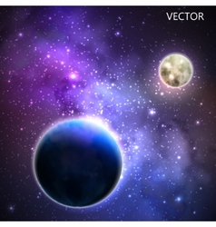 Abstract background with night sky and stars vector