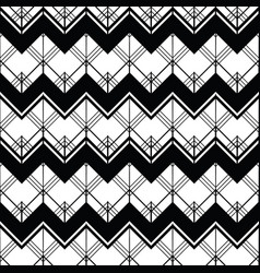 abstract geometric seamless monochrome vector image