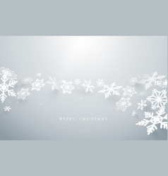 abstract snowflakes on white background vector image