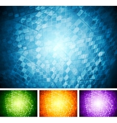 Abstract tech backgrounds vector image