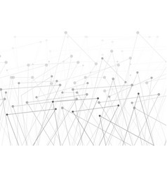 abstract technology connection low poly lines vector image