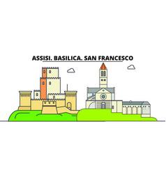 Assisi basilica san francesco - other franciscan vector