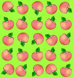 Background of peaches vector image