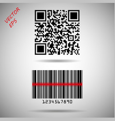 barcode and qr code barcode matrix vector image
