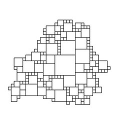 Belarus map from black pattern from a grid of vector