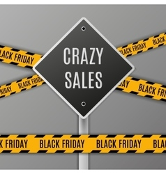 Black Friday Sale Sign vector image