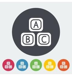 Blocks icon vector