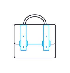 brief bag symbol thin line stroke icon vector image