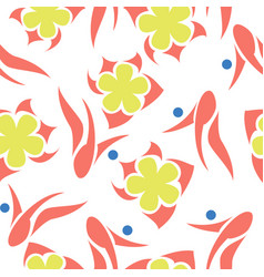 Bright floral abstract pattern vector