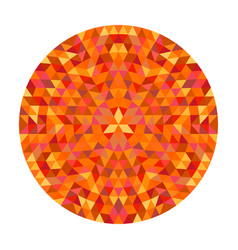 Circular geometrical triangle mandala design - vector