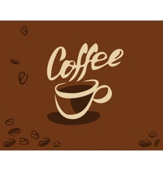Coffee cup and bean vector image