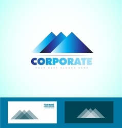 Corporate business triangle logo icon vector