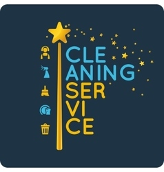 Corporate identity for company cleaning service vector image vector image