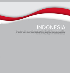 Cover banner in national colors indonesia vector